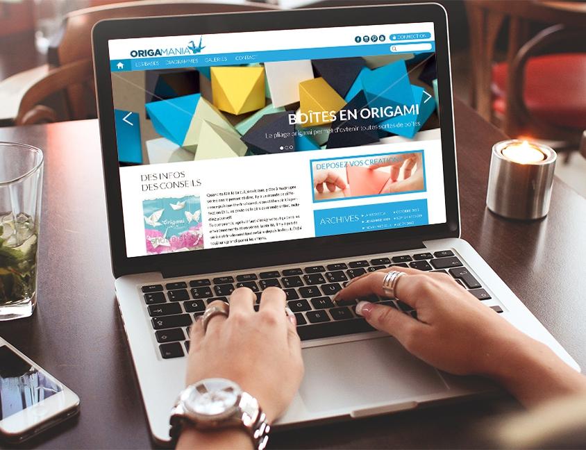 Origamania – Maquettes webdesign