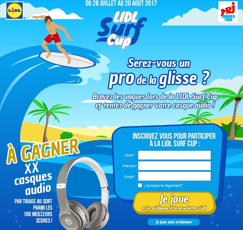 Écrans de jeu – NRJ Surf Cup