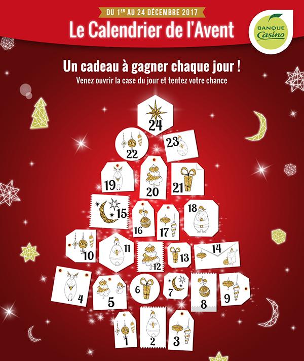 Calendrier interactif – Banque Casino